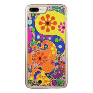 Colorful Retro Flower Paisley Psychedelic Carved iPhone 8 Plus/7 Plus Case