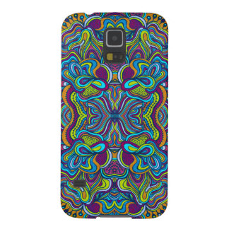 Colorful Retro Psychedelic Abstract Swirls Galaxy S5 Cover