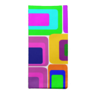 colorful retro style napkin