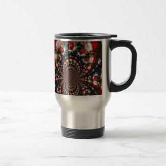 Colorful Retro Vintage Christmas presents Xmas gif Stainless Steel Travel Mug