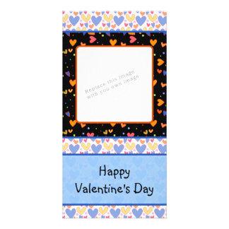Colorful romantic heart design card