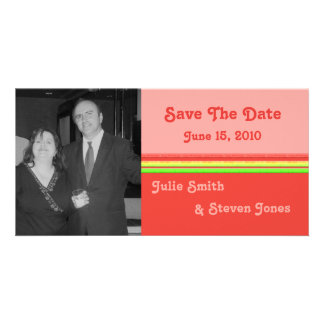colorful save the date custom photo card