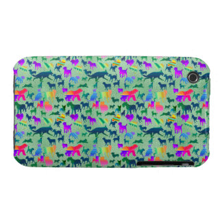 Colorful Shadow Dogs iPhone 3 Cover