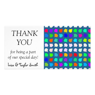 Colorful shapes abstract design custom photo card