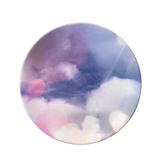 "Colorful Sky 8.5"" Decorative Porcelain Plate"