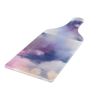 Colorful Sky Decorative Glass Cutting Board Paddle