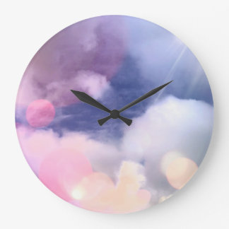 Colorful Sky Round (Large) Wall Clock