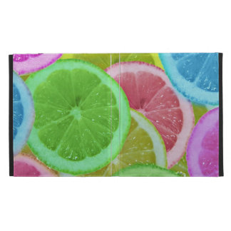 colorful slices of lemon and orange iPad cases