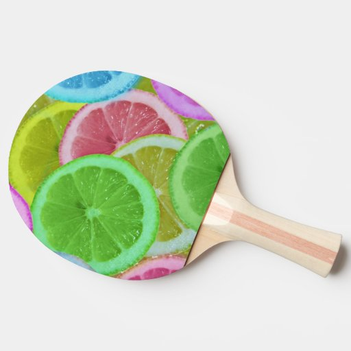 colorful slices orange Ping-Pong paddle