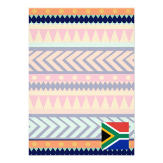 Colorful South Africa Flag Box 13 Cm X 18 Cm Invitation Card