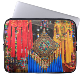 Colorful souvenirs in a shop, China Laptop Sleeve