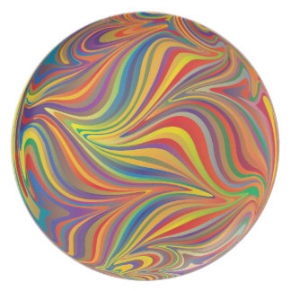 colorful sphere plate