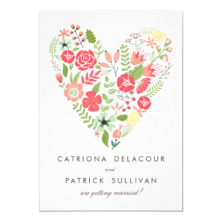 COLORFUL SPRING FLOWERS SAVE THE DATE ANNOUNCEMENT