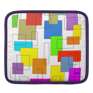 colorful squares iPad sleeve
