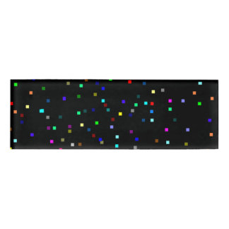 Colorful Squares Pattern on Black Background