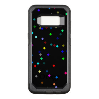 Colorful Squares Pattern on Black Background OtterBox Commuter Samsung Galaxy S8 Case