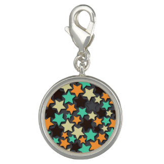 Colorful Star Pattern with Dark Background
