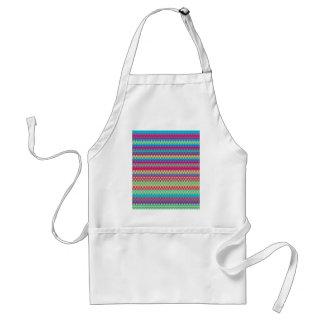 Colorful Stripe Pattern Standard Apron