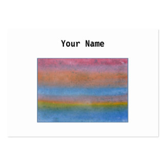 Colorful Striped Abstract. Business Card Template