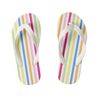 Colorful Stripes Children's Flip Flops