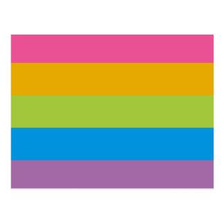Colorful Stripes Color Blocking Postcard