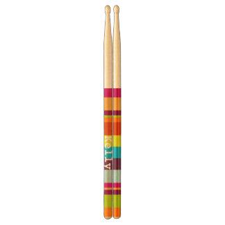 Colorful Stripes Drum Sticks