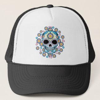Colorful Sugar Skull Trucker Hat