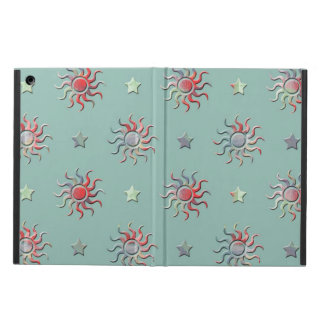 Colorful sun and stars design case for iPad air