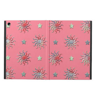 Colorful sun and stars design iPad air cover
