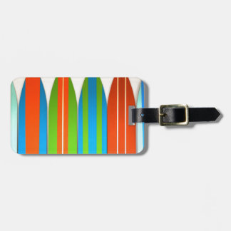 Colorful Surfboard Pattern Deisgn Luggage Tag