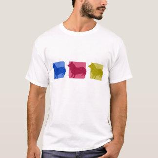 Colorful Swedish Vallhund Silhouettes T-Shirt