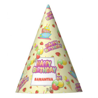 Colorful Sweets Birthday Party Hat