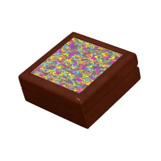Colorful Swirls on Dark Gray Gift Box