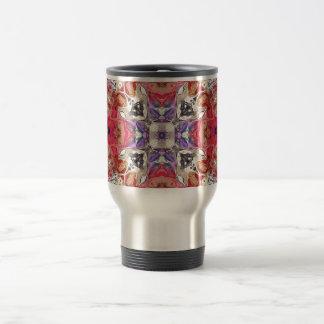 Colorful Symmetric Abstract Travel Mug