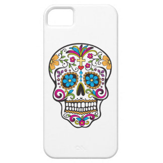 Colorful tattoo skull, white background iPhone 5 iPhone 5 Case