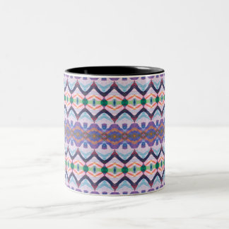 Colorful Textured Pattern 1 Two-Tone Coffee Mug