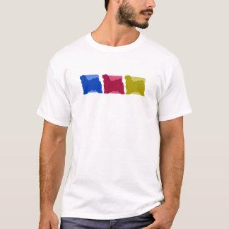 Colorful Tibetan Terrier Silhouettes T-Shirt