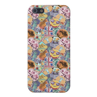 Colorful Travel Sticker Pattern iPhone 5 Cover