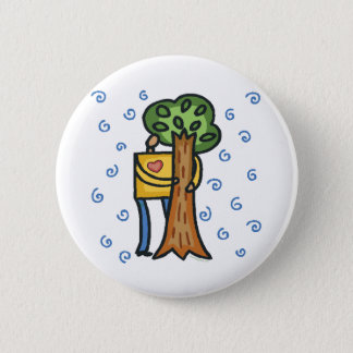 Colorful Tree Hugger 6 Cm Round Badge