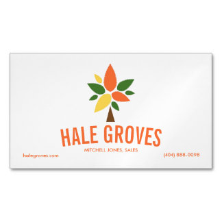 Colorful Tree Logo Magnetic Business Card Magnetic Business Cards