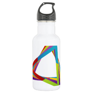 Colorful triangles 532 ml water bottle