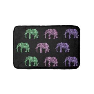 colorful tribal floral boho elephant pattern bath mats