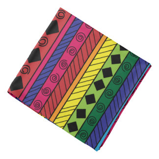 Colorful tribal geometric doodle bandana