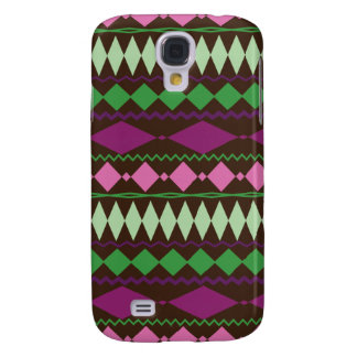 Colorful Tribal Geometric Pattern Design Galaxy S4 Case
