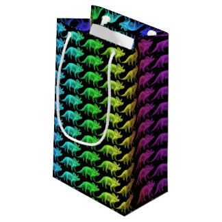 Colorful Triceratops Dinosaur Gift Bag