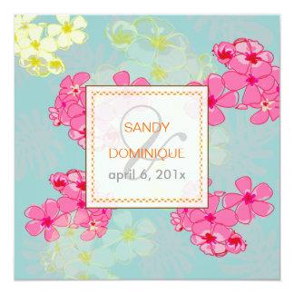 Colorful tropical flowers/foliage Invitaitons Invite