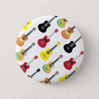 Colorful Ukulele Patterns Music 6 Cm Round Badge
