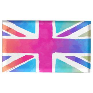 Colorful Union Jack Flag Table Card Holder