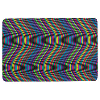 Colorful vertical waves II Floor Mat