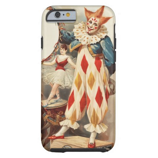 Colorful Vintage Circus Clown iPhone 6 Case